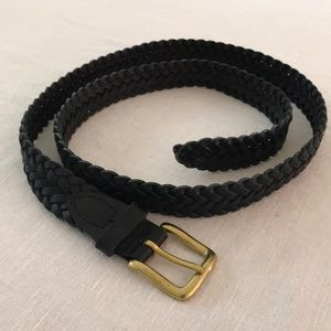 Men's Braided Oil Tanned Cowhide Belt Size 40